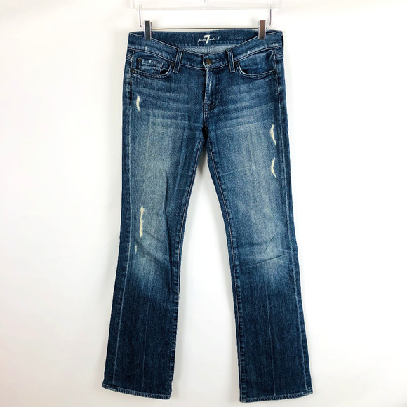 7 For All Mankind Denim - 7 For All Mankind Boot Cut Distressed Denim